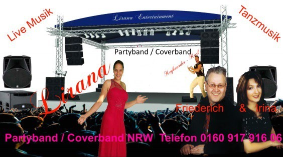 Coverband Wuppertal - Partyband Wuppertal - Hochzeitsband Wuppertal mit top Interpreten - the Europe Dance Musikers NRW